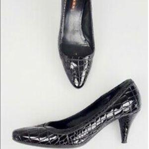 Prada sport 35.5 croc embossed heels